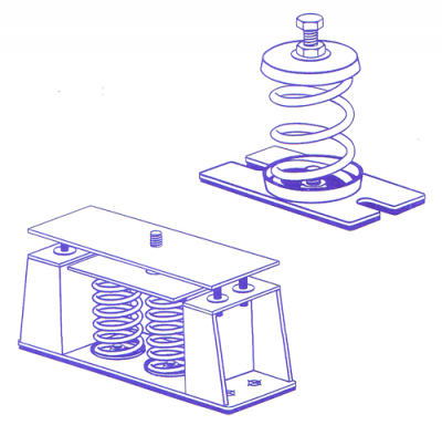 Inertia Base Spring Anti Vibration Mounts Amp Spring Hangers